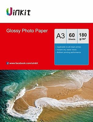 A3 High Glossy Photo Printing Paper Inkjet Printing Paper 230G 240G 60 Sheets