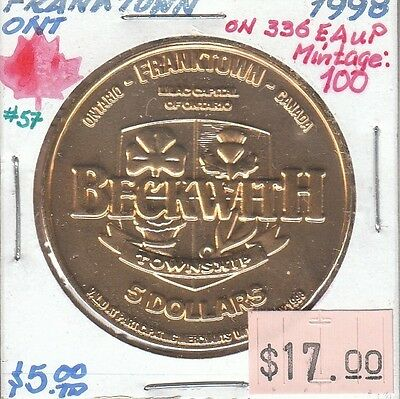 Franktown Ontario Canada - Trade Dollar - 1998 Gold Plated