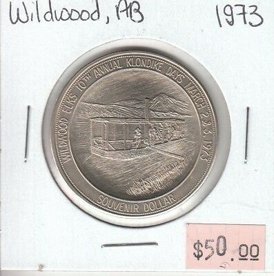 Wildwood Alberta Canada - Trade Dollar - 1973