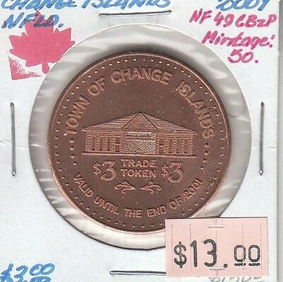 Change Islands Newfoundland Canada - Trade Dollar - 2001 Bronze Plated