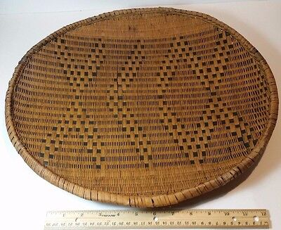 "Antique Woven 17 1/4"" Basket/bowl Native American"