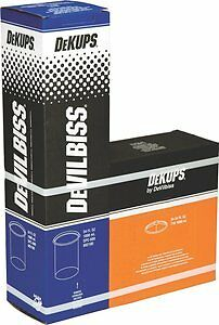 10 Pack DeVilbiss DeKUPS DPC-600 34oz Disposable Cups & Lids Kit 802100