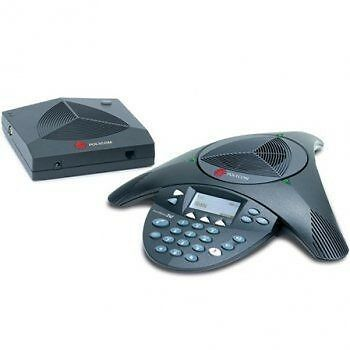 Polycom SoundStation2 conference phone non-expandable with display - refurbished