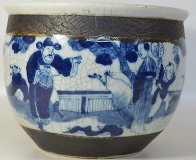 A Perfect 19th Century Chinese Porcelain Blue and White Jardineira/Planter/Pot