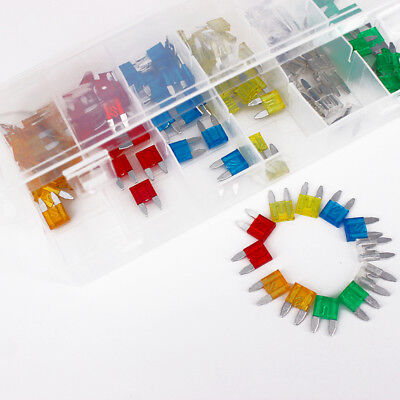 120Pcs Set Blade Fuse Assortment FUSES Kit for Auto Car Truck Motorcycle 5A-30A