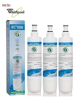 3 X Whirlpool  Fridge  Ice and  Water Filter 4396508 replacement filter