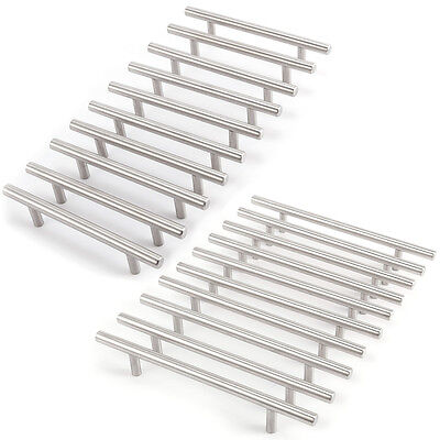 Solid Stainless Steel T bar Kitchen Cabinet Handles Drawer Pull Knobs Hardware