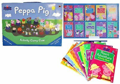 Peppa Pig Activity and Sticker Collection Carry Case Educational Toys Books