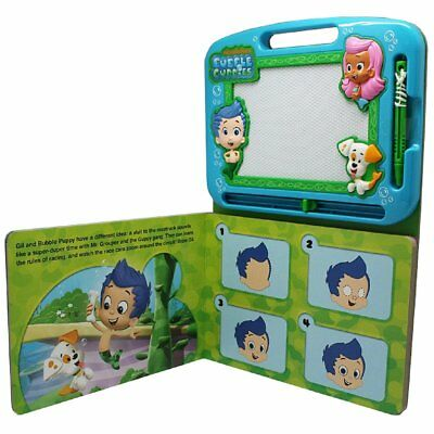 Bubble Guppies - Learning Book with Magnetic Drawing Pad Educational Toys Books