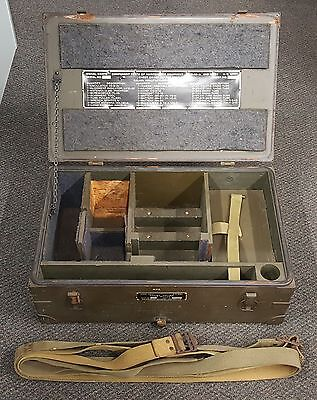 Genuine Authentic WWII US Military Army Signal Corps Chest CH-165 Upper OD Crate
