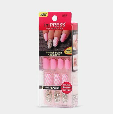 Broadway imPRESS Nails ACCENT KIT oval NEXT WAVE Künstliche Fingernägel Press-On