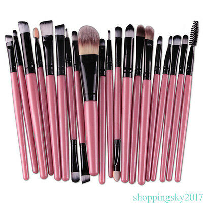 Multicolor Professional 20PCs Makeup Brush Set Powder Cosmetic Tool for beauty