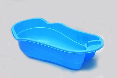 BLUE Large Plastic Large Baby Newborn Kids Deluxe Wash Bath Tub