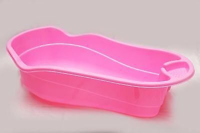 PINK Large Plastic Large Baby Newborn Kids Deluxe Wash Bath Tub