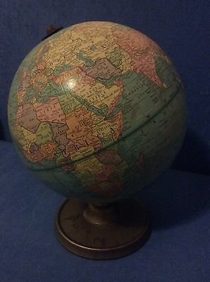 Authentic vintage retro world globe library school learning office decor