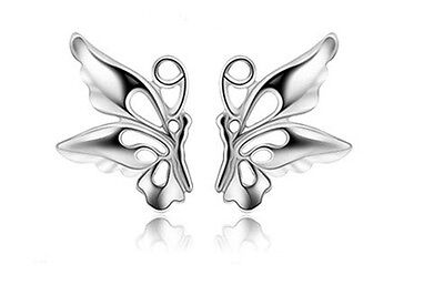Sterling Silver Butterfly Stud Earrings. Woodland Creatures.