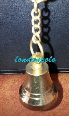 Antique Style Solid Brass Beautiful Ringing Ship Bell Key Chain Key Ring