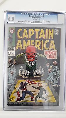Captain America #103 CGC Grade 6.0 Marvel Comics Red Skull Issue