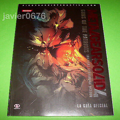 Metal Gear Solid 4 Guns Of The Patriots Guia Oficial Nueva Precintada Piggyback