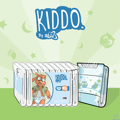Kiddo by ABU ABDL Adult Printed Nappies/Diapers