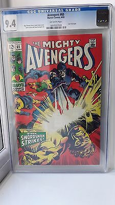 Avengers Issue #65 CGC Very High Grade 9.4 Marvel Comics