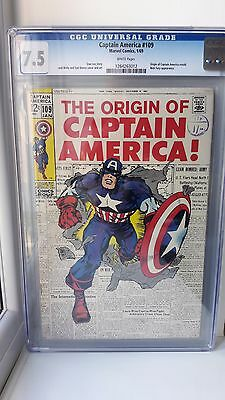 Captain America #109 CGC Grade 7.5 Marvel Comics