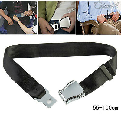 Adjustable Airplane Seat Belt Extender Extension Airline/Buckle Aircraft Ship UK