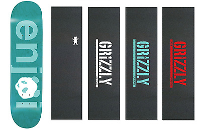 Enjoi Skateboards Deck No Brainer 8.0 Blue Epoxy Free Grizzly Grip Skateboard