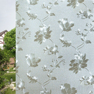 Nice 60 X 200CM Frosted Flower Glass Window Film Cover Privacy Bathroom Covering