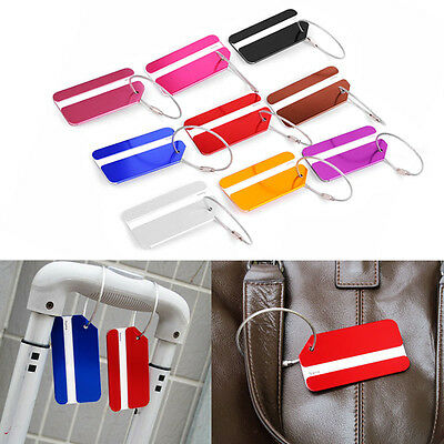 New Aluminium Travel Luggage Tags Baggage Suitcase Lable Address Label Holder