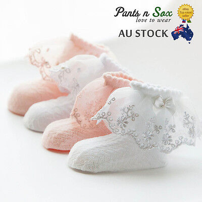 Lace Girls Ruffle Baby Princess Kids Ankle Socks Frilly New Infant Girl Toddler