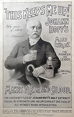 1898 Ad(1800-18)~Johann Hoff's Malt Extract For Healthy Flesh And Blood