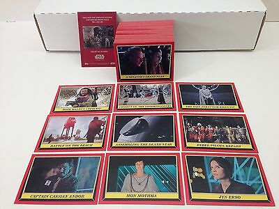 Star Wars - Rogue One Mission Briefing - Complete Card Set (110) Topps 2016 - NM