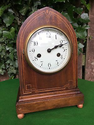 Antique Gustav Becker Silesia Clock, Germany Mantle Clock C1900