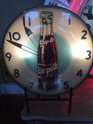 Pam Telechron Double Bubble Advertising Clock Custom Stand - Perfect For Display
