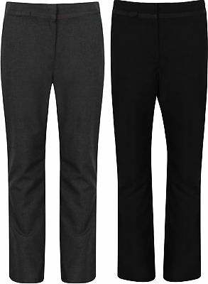 Ex Bhs Girls School Trousers Black Charcoal New Size 4-12 Years Skorts