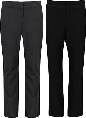 Girls School Trousers Ex BHS Black Grey Charcoal New Size 4-12 Years