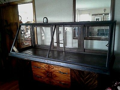 Antique Candy Shop Display Case late 1800's Sun Manufacturing Company-Slant Top