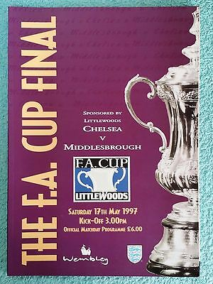 1997 - FA CUP FINAL PROGRAMME - CHELSEA v MIDDLESBROUGH