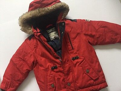 Next Winter Red Padded Jacket Age 18 -24 Months Baby Boys
