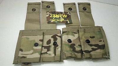 Grenade Pouch Military NEW 40mm MOLLE II ( DOUBLE ) MULTICAM Pattern  LOT OF 2
