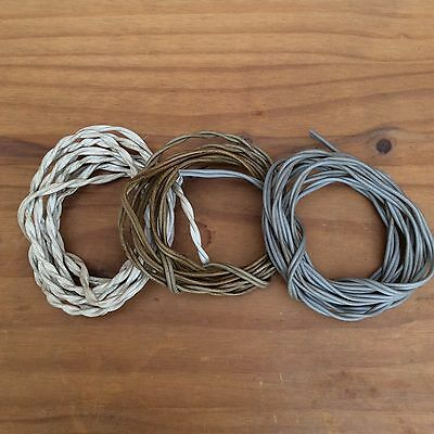 Vintage Speaker Wires - Set of 3