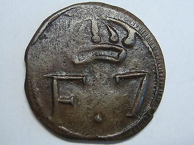 Santo Domingo 1/4 Real Ferdinand Vii Dominican Republic Spanish Colonial Copper