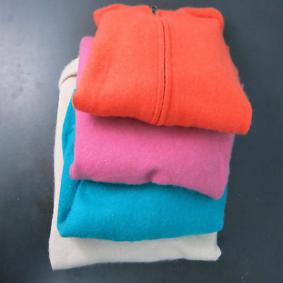 Cashmere Sweater Lot of 4 Orange Pink Aqua Beige AS IS Cutter Upcycle Colorful