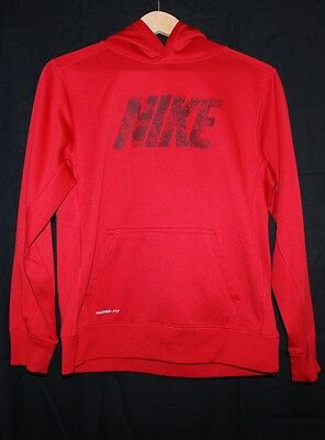 Nike Hoodie Boys Size XLTherma Sweatshirt Youth X Large Pullover Red Black