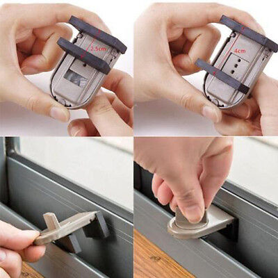 Restrictor Door Safe Sliding Window Safety Catch Kids Child Security Sash Lock