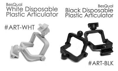 Dental Lab Disposable Plastic Articulators 100 Sets Black or Gray