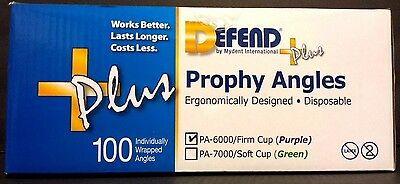 Defend +Plus Disposable Prophy Angles Pa-6000/ Firm Cup Purple 100 Angles