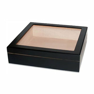 Orleans Group - Black Glass Top Genuine Spanish Cedar Lined Humidor - 20CT