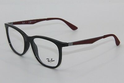 2b106db6994 Brand New Ray-Ban Rb 7078 5598 Grey Red Eyeglasses Rb7078 Authentic Rx 53-